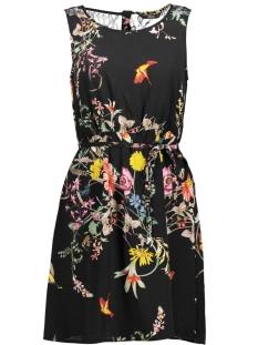 Only Jurk onlJULIET  S/L LIA LACE SHORT DRESS 15162813 Black/FLOWER AOP