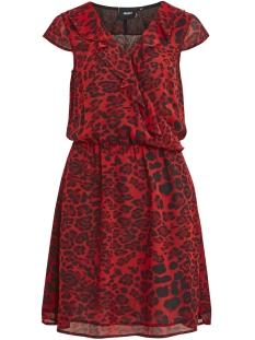 Object Jurk OBJFIRE S/S TRIBBIANI DRESS A DIV 23027889 Haute Red/LEO AOP