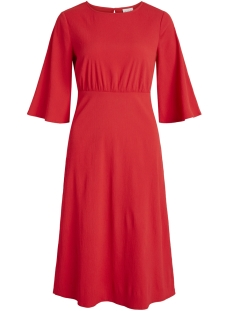 Vila Jurk VIBLAME 2/4 SLEEVE DRESS 14049570 Racing Red