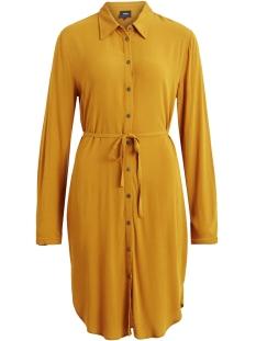 objbay l/s shirt dress seasonal 23027633 object jurk buckthorn brown
