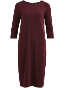 Vila Jurk VITINNY 3/4 SLEEVE MEDI DRESS-FAV N 14048435 Winetasting