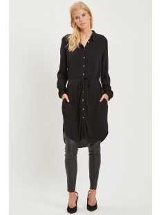 objbay l/s shirt dress noos 23027426 object jurk black