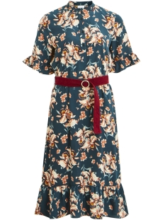 Vila Jurk VIEDDA S/S MIDI DRESS /RX 14050082 Pine Grove/FLOWER