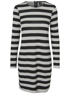 Vero Moda Jurk VMMALENA LS DRESS EXP COLOR 10206887 Light Grey Melange/Black