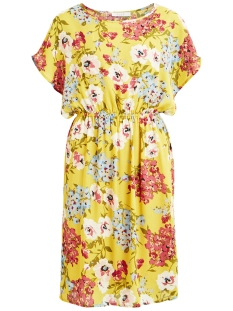 Vila Jurk VIBONHILL S/S DRESS /RX 14050285 Spicy Mustard/FLOWER