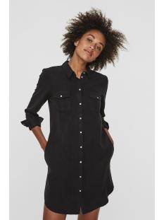 vmsilla ls short dress blck ga noos 10206339 vero moda jurk black