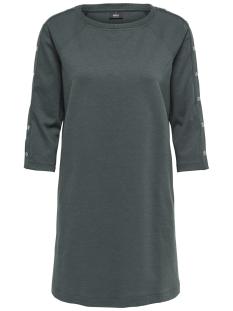 Only Jurk onlHARLEY 3/4 SLEEVE O-NECK DRESS S 15162030 Green Gables