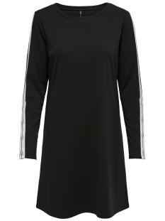 Only Jurk onlBRILLIANT SANA L/S DRESS JRS 15161447 Black/BRIGHT WHITE