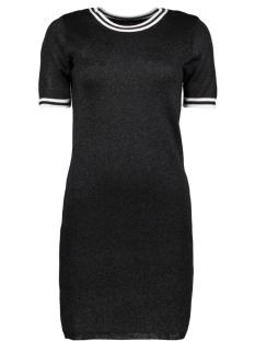 Only Jurk onlGALAXY S/S DRESS KNT 15164522 Black/W. DTM GLIT