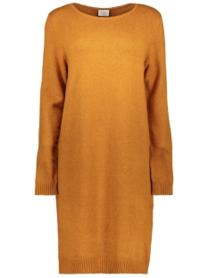 Vila Jurk VIRIL L/S KNIT DRESS-FAV 14043280 Cathay Spice/MELANGE