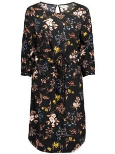 Jacqueline de Yong Jurk JDYKING 3/4 BELT DRESS WVN 15157407 black/MULTICOLOR