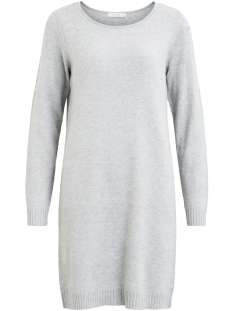 Vila Jurk VIRIL L/S KNIT DRESS - NOOS 14042768 Light Grey Melange