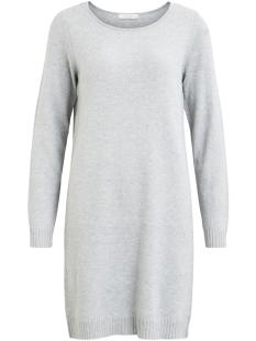 viril l/s knit dress - noos 14042768 vila jurk light grey melange