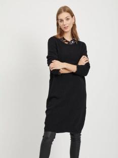 viril l/s knit dress - noos 14042768 vila jurk black