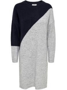 Jacqueline de Yong Jurk JDYEVA L/S DRESS KNT 15160963 NIGHT SKY/LGM