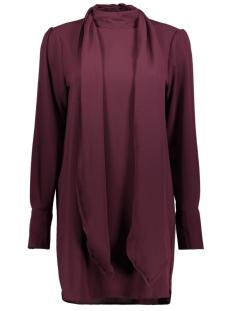 Vero Moda Jurk VMECLIPSE HIGH NECK TIE DRESS GA 10202979 Winetasting