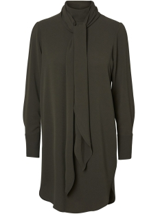 Vero Moda Jurk VMECLIPSE HIGH NECK TIE DRESS GA 10202979 Peat