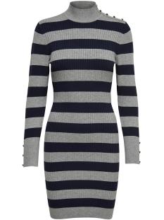 Only Jurk onlNEW TYRA L/S BUTTON DRESS KNT 15164520 Light Grey Melange