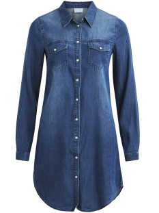 Vila Jurk VIBISTA DENIM DRESS-NOOS 14040911 Dark Blue Denim