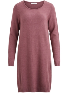Vila Jurk VIRIL L/S KNIT DRESS-FAV 14043280 Earth Red Detail: MELANGE