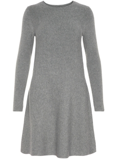 Vero Moda Jurk VMNANCY LS KNIT DRESS NOOS 10206027 Medium Grey Melange