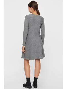 vmnancy ls knit dress noos 10206027 vero moda jurk medium grey melange