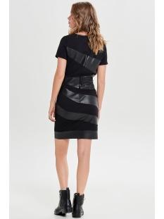 onlmaria faux leather mix dress otw 15161253 only jurk black
