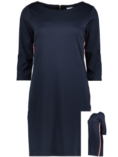 Vila Jurk VITINNY NEW DRESS - LUX 14043921 Total Eclipse/BLUE/RED/W