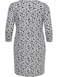 caralba 3/4 knee dress 15164821 only carmakoma jurk light grey melange/feathers