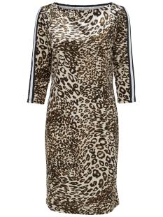 Jacqueline de Yong Jurk JDYLEO 3/4 BOATNECK DRESS JRS EXP 15166338 Black/LEO