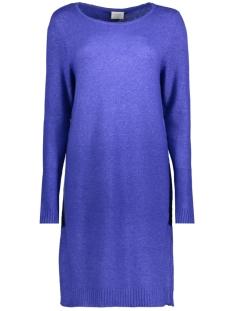 Vila Jurk VIRIL L/S KNIT DRESS-FAV 14043280 Clematis Blue/MELANGE