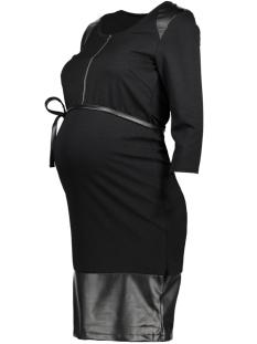 Mama-Licious Positie jurk MLNEW ADDY LIA L/S JERSEY ABK. DRES 20009159 Black/PU