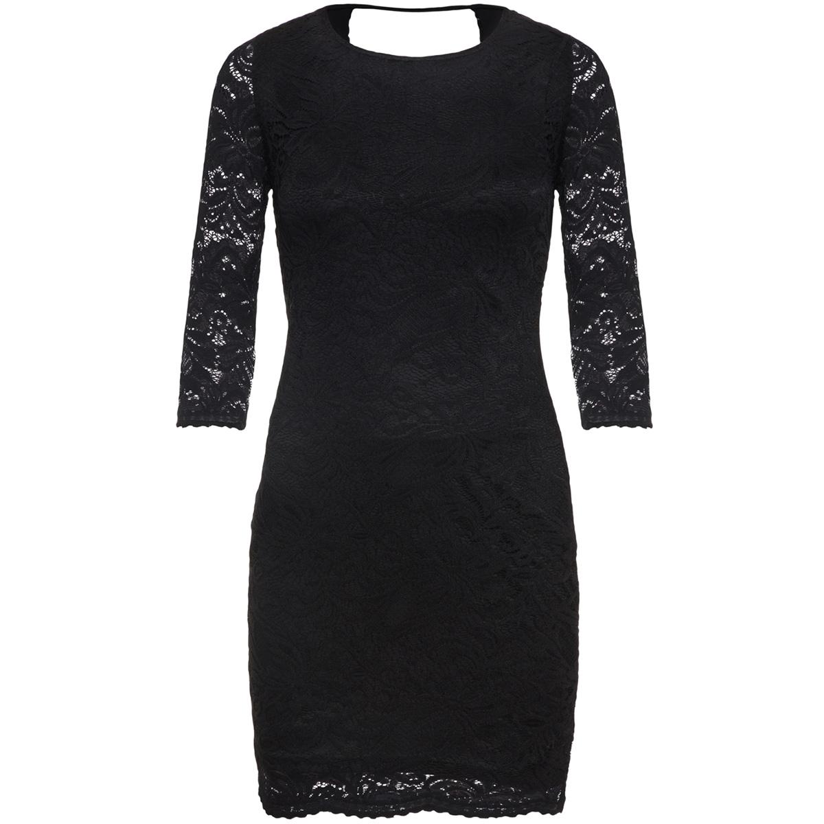 vmsandra 3/4 lace dress noos 10202307 vero moda jurk black