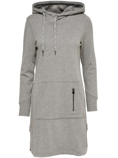 Only Jurk onlJUNE L/S HOOD DRESS SWT 15132535 Medium Grey Melange