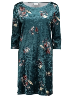 Vila Jurk VISIENNA TAHARA 3/4 SLEEVE DRESS 14050557 Bayberry/TAHARA