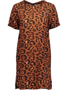 ginny dress luba jurk leopard roest
