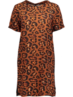 Luba Jurk GINNY DRESS LEOPARD ROEST