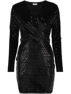 Noisy may Jurk NMURIELA L/S SHORT DRESS 6 27004066 Black/BLACK SEQU