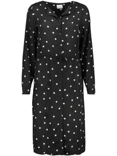 Vila Jurk VILUCY L/S SHIRT DRESS-FAV LUX 14052545 Black/DOTINAS WHITE