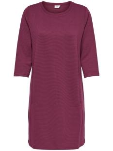 Jacqueline de Yong Jurk JDYSAGA 3/4 DRESS JRS 15155455 Red Plum