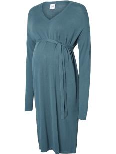 Mama-Licious Positie jurk MLMYNA LOOSE L/S KNIT ABK DRESS V.20009065 Mediterranea
