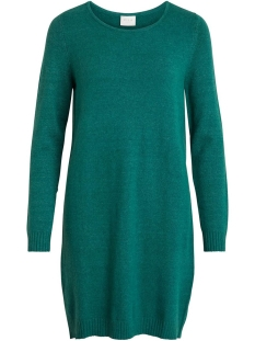 Vila Jurk VIRIL L/S KNIT DRESS-FAV 14043280 Bayberry/MELANGE