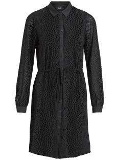 Object Jurk OBJLEAH LEONORA L/S SHIRT DRESS 99 23028598 Black