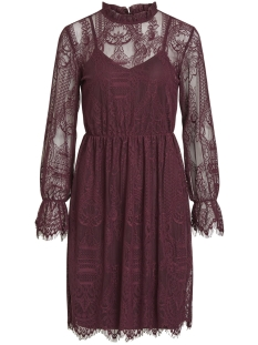 Vila Jurk VIKARLA L/S DRESS 14048863 Winetasting
