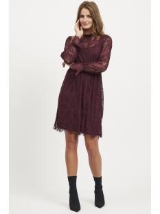 vikarla l/s dress 14048863 vila jurk winetasting
