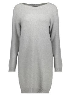 Vero Moda Jurk VMDOFFY LUREX LS BOATNECK DRESS NVL 10205271 Light Grey Melange/W. SILVER