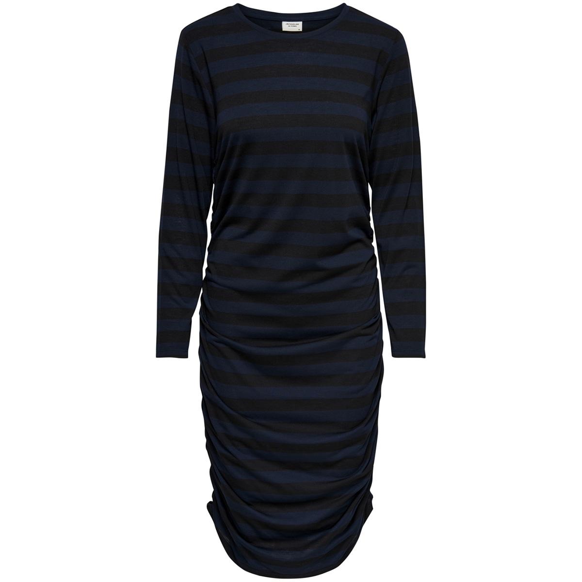 jdyrosa l/s dress jrs 15160473 jacqueline de yong jurk black/dark sapphire