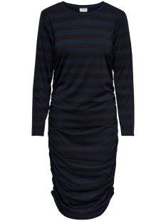 Jacqueline de Yong Jurk JDYROSA L/S DRESS JRS 15160473 Black/DARK SAPPHIRE