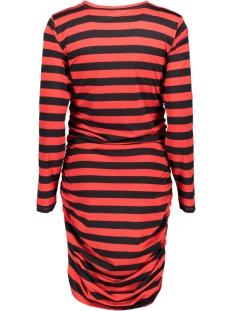 jdyrosa l/s dress jrs 15160473 jacqueline de yong jurk black/goji berry