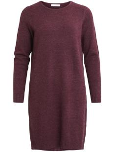 viril l/s knit dress - noos 14042768 vila jurk winetasting
